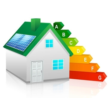 maison avec étiquette énergétique